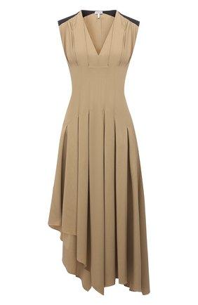 Женское платье из вискозы LOEWE бежевого цвета, арт. S540Y09X93   Фото 1