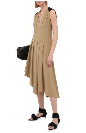 Женское платье из вискозы LOEWE бежевого цвета, арт. S540Y09X93   Фото 2
