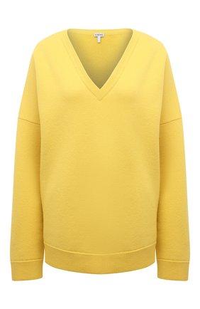 Женский кашемировый пуловер LOEWE желтого цвета, арт. S540Y14K40   Фото 1