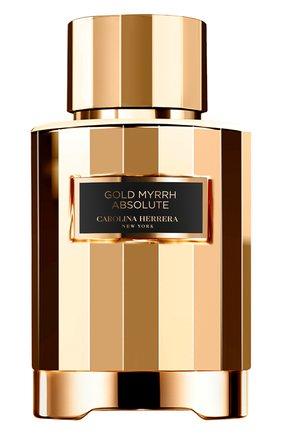 Парфюмерная вода gold myrrh absolute CAROLINA HERRERA бесцветного цвета, арт. 65168038 | Фото 1