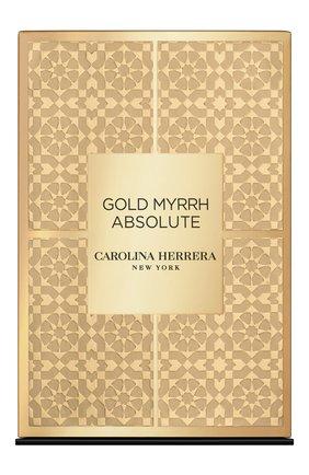 Парфюмерная вода gold myrrh absolute CAROLINA HERRERA бесцветного цвета, арт. 65168038 | Фото 2