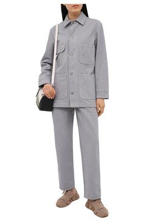 Женские текстильные кроссовки speed.2 BALENCIAGA бежевого цвета, арт. 617214/W2DB1   Фото 2