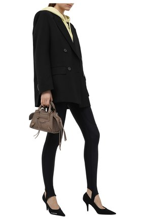 Женские леггинсы со штрипками BALENCIAGA черного цвета, арт. 657820/TKV12 | Фото 2