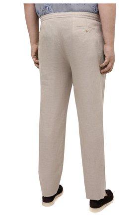 Мужские льняные брюки BRIONI бежевого цвета, арт. RPMJ0M/P6114/NEW JAMAICA | Фото 4