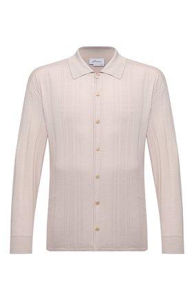 Мужская шелковая рубашка BRIONI бежевого цвета, арт. UMHZ0L/P0K19 | Фото 1