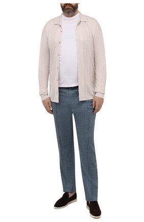 Мужская шелковая рубашка BRIONI бежевого цвета, арт. UMHZ0L/P0K19 | Фото 2