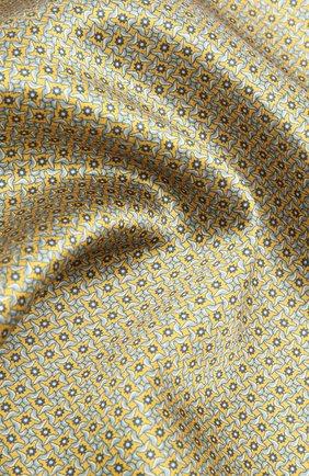 Мужской шелковый платок CORNELIANI желтого цвета, арт. 87UF27-1120398/00 | Фото 2