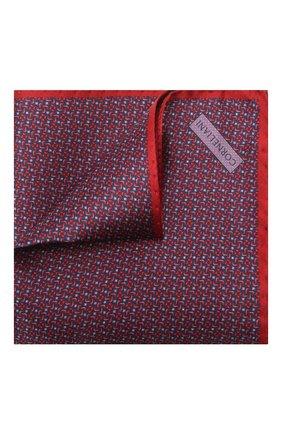 Мужской шелковый платок CORNELIANI красного цвета, арт. 87UF27-1120398/00 | Фото 1