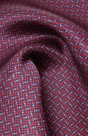 Мужской шелковый платок CORNELIANI красного цвета, арт. 87UF27-1120398/00 | Фото 2