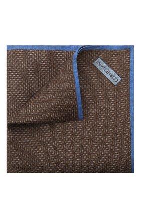 Мужской льняной платок CORNELIANI коричневого цвета, арт. 87UF22-1120399/00   Фото 1 (Материал: Текстиль, Лен)