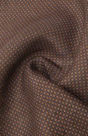 Мужской льняной платок CORNELIANI коричневого цвета, арт. 87UF22-1120399/00   Фото 2 (Материал: Текстиль, Лен)