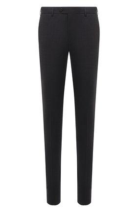 Мужские брюки из шерсти и хлопка CORNELIANI темно-серого цвета, арт. 874B08-1114570/02   Фото 1