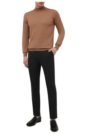 Мужские брюки из шерсти и хлопка CORNELIANI темно-серого цвета, арт. 874B08-1114570/02   Фото 2