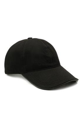 Мужской бейсболка из шерсти и хлопка CORNELIANI черного цвета, арт. 870332-1129211/00 | Фото 1