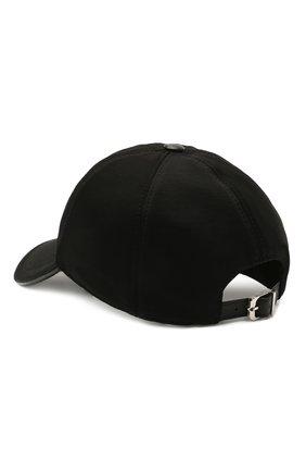 Мужской бейсболка из шерсти и хлопка CORNELIANI черного цвета, арт. 870332-1129211/00 | Фото 2