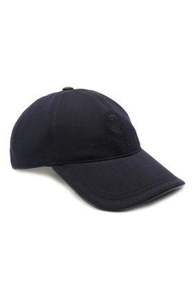 Мужской бейсболка из шерсти и хлопка CORNELIANI темно-синего цвета, арт. 870332-1129211/00 | Фото 1