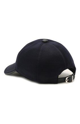 Мужской бейсболка из шерсти и хлопка CORNELIANI темно-синего цвета, арт. 870332-1129211/00 | Фото 2