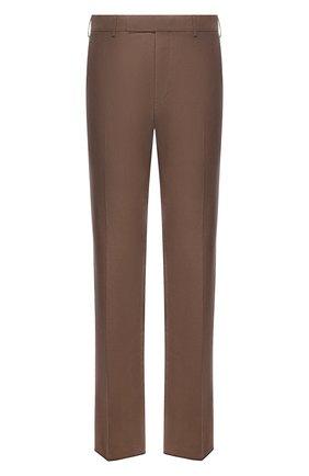 Мужские брюки из шелка и льна TOM FORD коричневого цвета, арт. 976R15/759242 | Фото 1 (Материал внешний: Шелк, Лен; Длина (брюки, джинсы): Стандартные; Случай: Повседневный; Стили: Кэжуэл; Материал подклада: Купро)