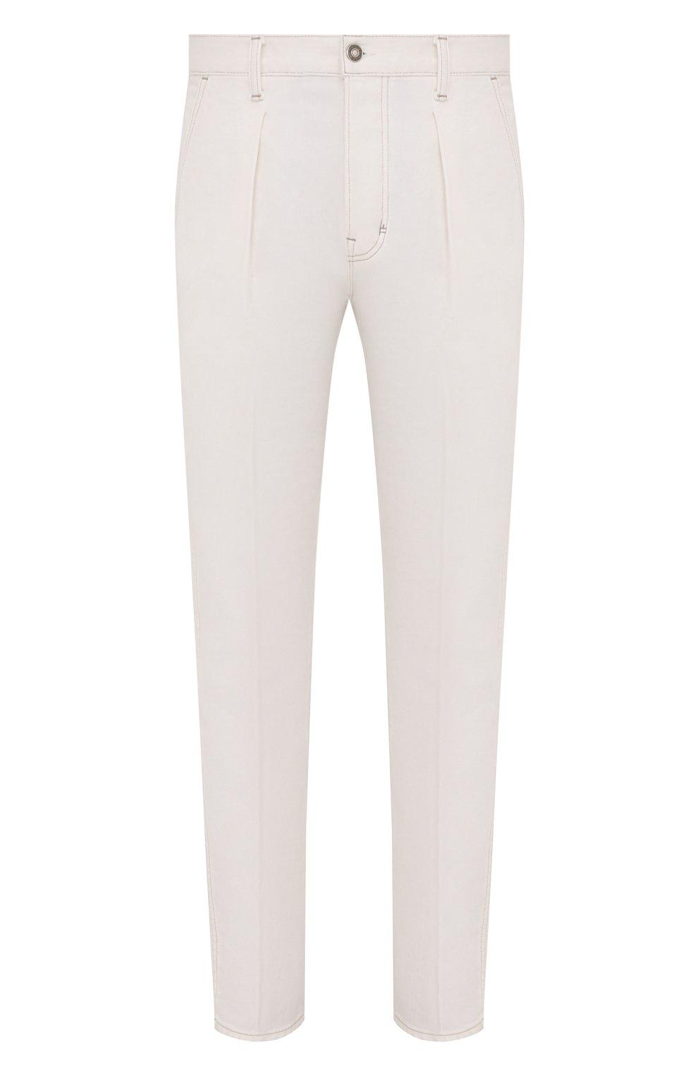 Мужские джинсы TOM FORD белого цвета, арт. BWJ43/TFD021   Фото 1