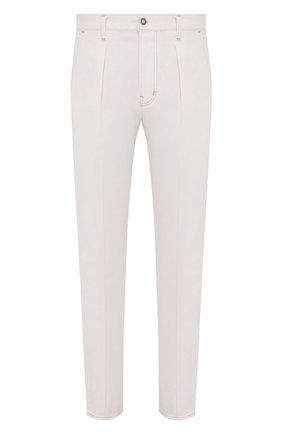 Мужские джинсы TOM FORD белого цвета, арт. BWJ43/TFD021 | Фото 1 (Силуэт М (брюки): Прямые; Материал внешний: Хлопок, Деним; Длина (брюки, джинсы): Стандартные; Стили: Кэжуэл)