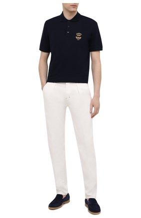 Мужские джинсы TOM FORD белого цвета, арт. BWJ43/TFD021 | Фото 2 (Силуэт М (брюки): Прямые; Материал внешний: Хлопок, Деним; Длина (брюки, джинсы): Стандартные; Стили: Кэжуэл)