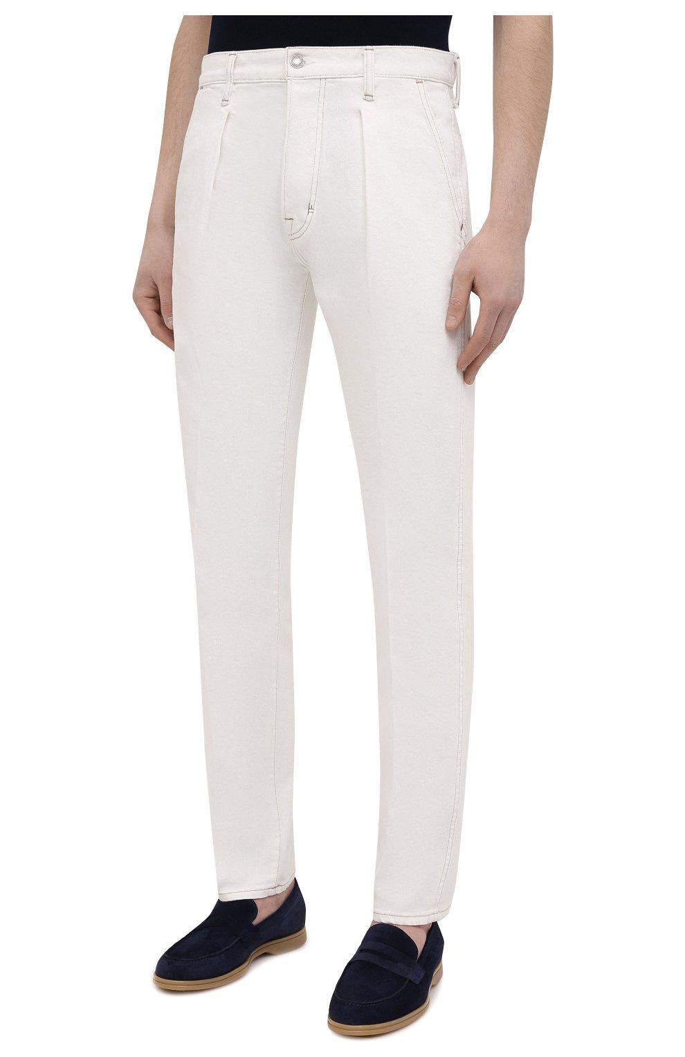 Мужские джинсы TOM FORD белого цвета, арт. BWJ43/TFD021   Фото 3
