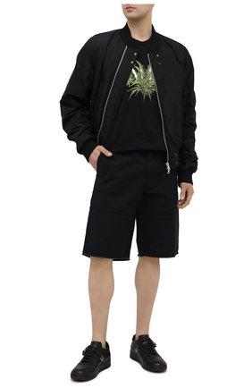 Мужская хлопковая футболка AMIRI черного цвета, арт. MJGT009-001 | Фото 2
