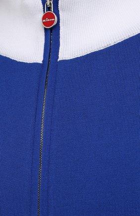 Мужской хлопковый кардиган KITON синего цвета, арт. UK1158L | Фото 5