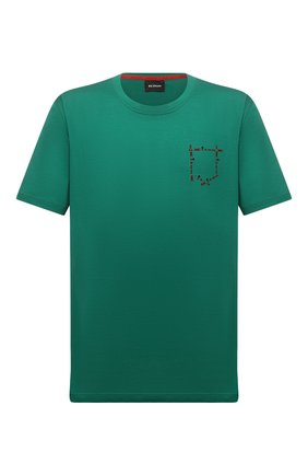 Мужская хлопковая футболка KITON зеленого цвета, арт. UK1163L | Фото 1