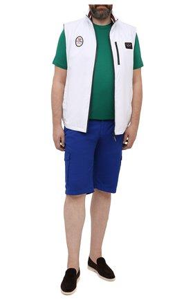 Мужская хлопковая футболка KITON зеленого цвета, арт. UK1163L | Фото 2