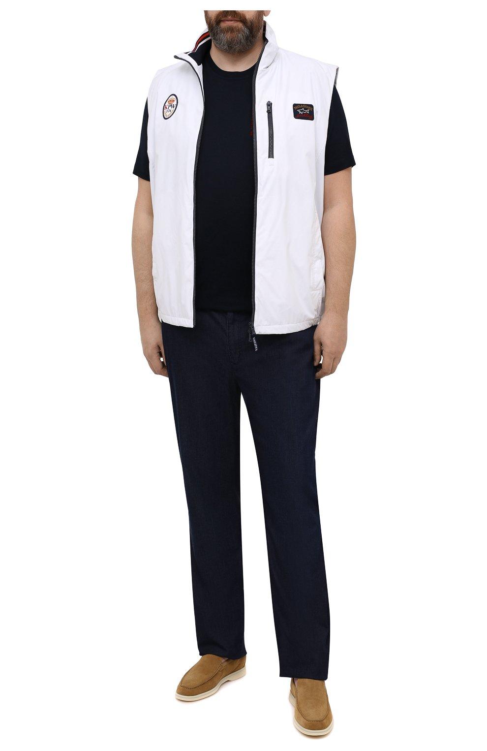 Мужская хлопковая футболка KITON темно-синего цвета, арт. UK1163L   Фото 2