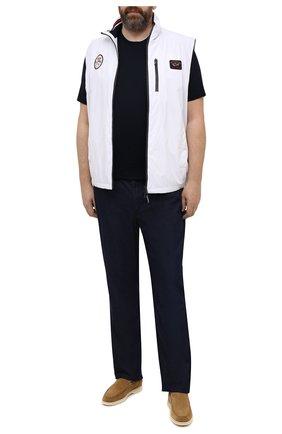 Мужская хлопковая футболка KITON темно-синего цвета, арт. UK1163L | Фото 2