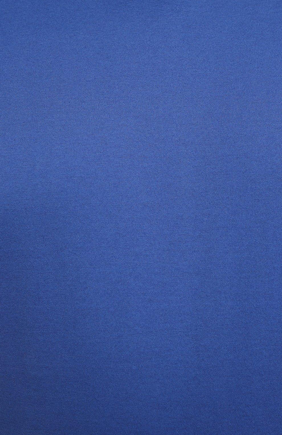 Мужская футболка из хлопка и кашемира KITON синего цвета, арт. UMK0029/4XL-8XL | Фото 5