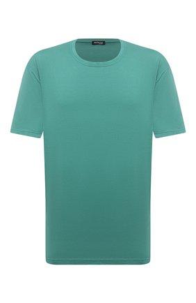 Мужская футболка из хлопка и кашемира KITON зеленого цвета, арт. UMK0029/4XL-8XL | Фото 1