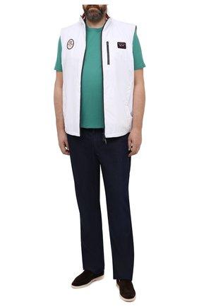 Мужская футболка из хлопка и кашемира KITON зеленого цвета, арт. UMK0029/4XL-8XL | Фото 2
