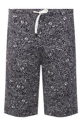 Мужские шорты ZIMMERLI черно-белого цвета, арт. 5185-95631 | Фото 1 (Кросс-КТ: домашняя одежда; Материал внешний: Синтетический материал)