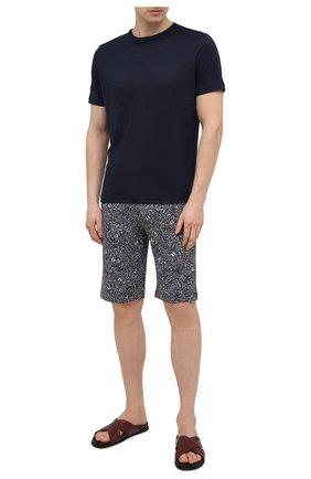 Мужские шорты ZIMMERLI черно-белого цвета, арт. 5185-95631 | Фото 2 (Кросс-КТ: домашняя одежда; Материал внешний: Синтетический материал)