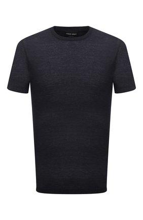 Мужская футболка из вискозы GIORGIO ARMANI темно-синего цвета, арт. 3KSM58/SJYBZ   Фото 1