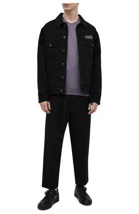 Мужская хлопковая футболка STONE ISLAND темно-серого цвета, арт. 741524113   Фото 2