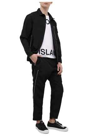 Мужская хлопковая футболка STONE ISLAND белого цвета, арт. 74152NS84 | Фото 2