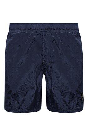 Мужские плавки-шорты STONE ISLAND темно-синего цвета, арт. 7415B0943 | Фото 1