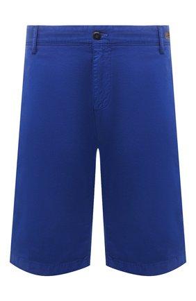 Мужские хлопковые шорты PAUL&SHARK синего цвета, арт. 21414003/E7A/62-64 | Фото 1