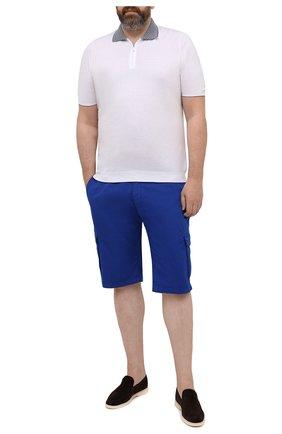 Мужские хлопковые шорты PAUL&SHARK синего цвета, арт. 21414003/E7A/62-64 | Фото 2