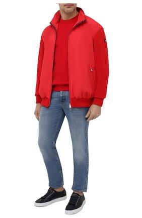 Мужской комбинированный кардиган PAUL&SHARK красного цвета, арт. 21411721/H06/3XL-6XL | Фото 2