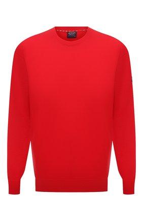 Мужской хлопковый джемпер PAUL&SHARK красного цвета, арт. 21411508/C00/3XL-6XL | Фото 1