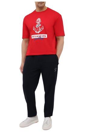 Мужская хлопковая футболка PAUL&SHARK красного цвета, арт. 21411081/C00/3XL-6XL | Фото 2