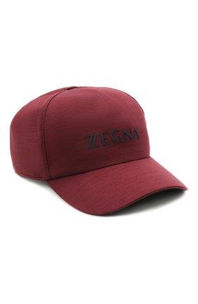 Мужской шерстяная бейсболка Z ZEGNA бордового цвета, арт. Z9I71/B9I | Фото 1