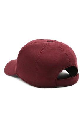 Мужской шерстяная бейсболка Z ZEGNA бордового цвета, арт. Z9I71/B9I | Фото 2