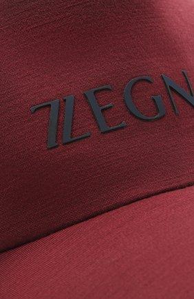 Мужской шерстяная бейсболка Z ZEGNA бордового цвета, арт. Z9I71/B9I | Фото 3
