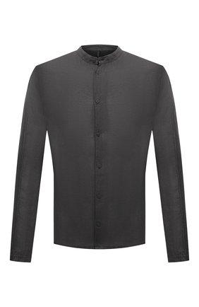 Мужская льняная рубашка TRANSIT темно-серого цвета, арт. CFUTRNV312 | Фото 1